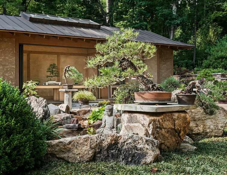 rocas estilo jardines fuentes integracion