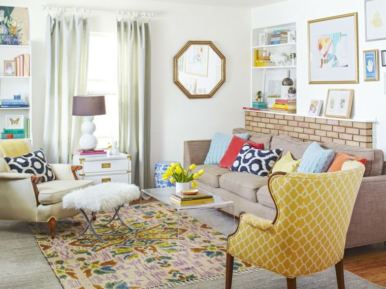 sala de estar ecléctica