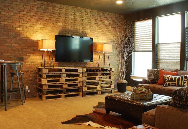 sala estar moderna muebles palet