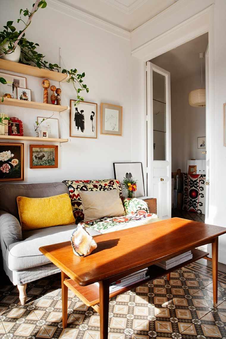 sala de estar mesa madera