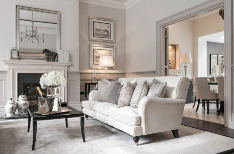 salón clásico color crema