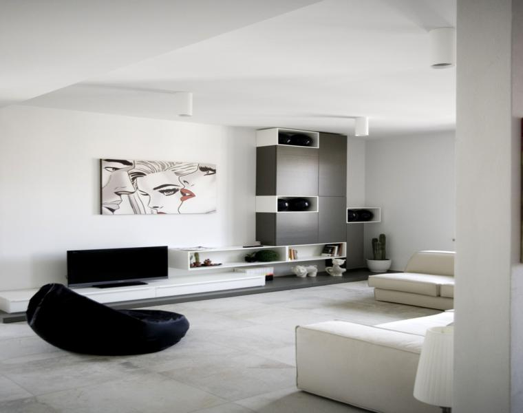 Interiores minimalistas disfruta de un espacio despejado - Salon minimalista moderno ...