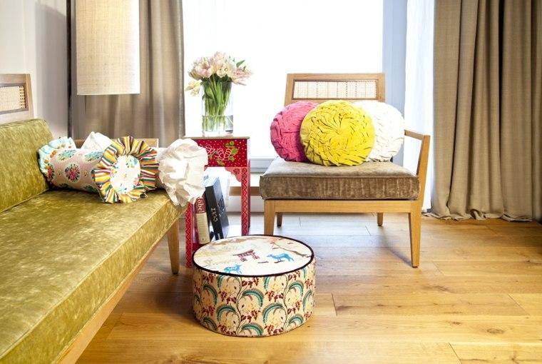 salones con estilo romantico shabby chic colorido ideas