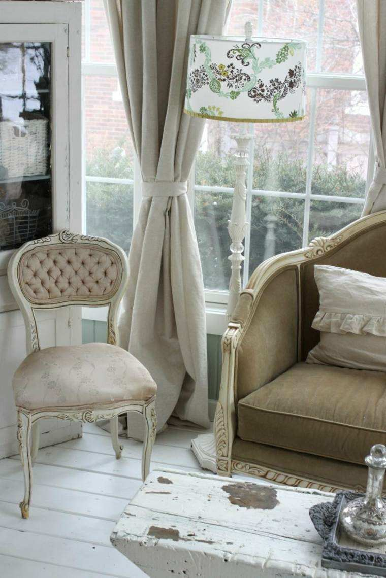 salones con estilo romantico shabby chic decoracion interiores ideas