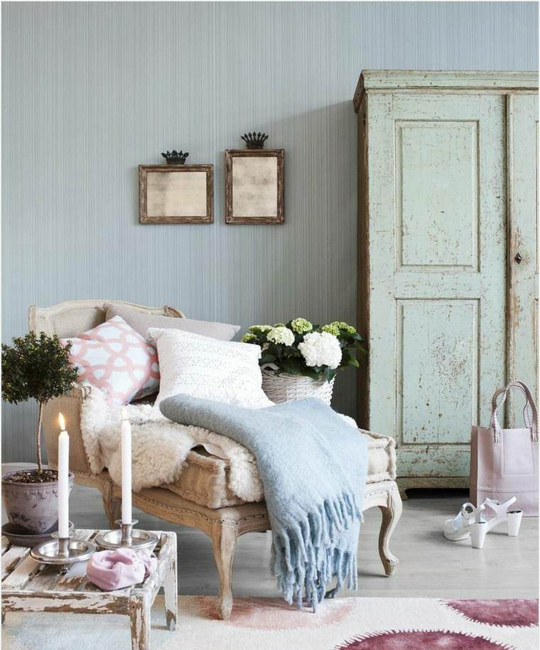 salones con estilo romantico shabby chic detalles maravillosos ideas
