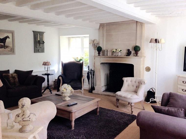 salones con estilo romantico shabby chic espacios amplios ideas
