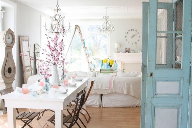 salones estilo romantico shabby chic glamuroso ideas