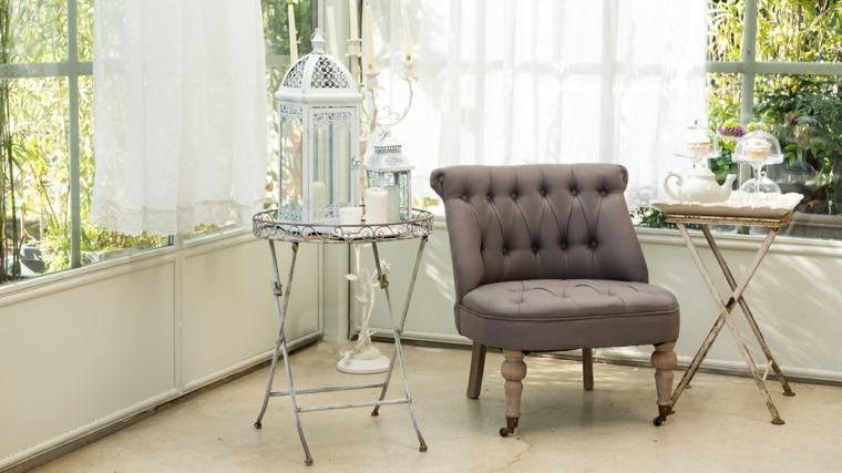 salones estilo romantico shabby chic mesitas plegables ideas