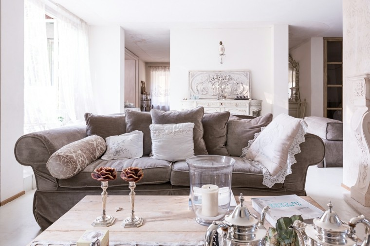 Salones con estilo y muebles shabby chic for Shabby chic moderno