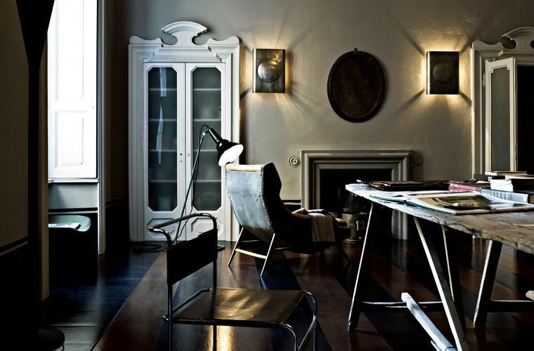 salones con estilo romantico shabby chic oscuro ideas