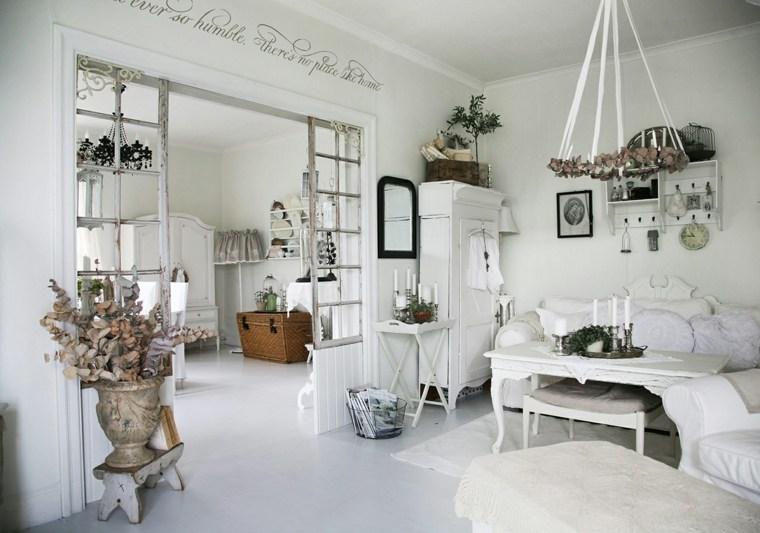 salones con estilo romantico shabby chic provenzal ideas