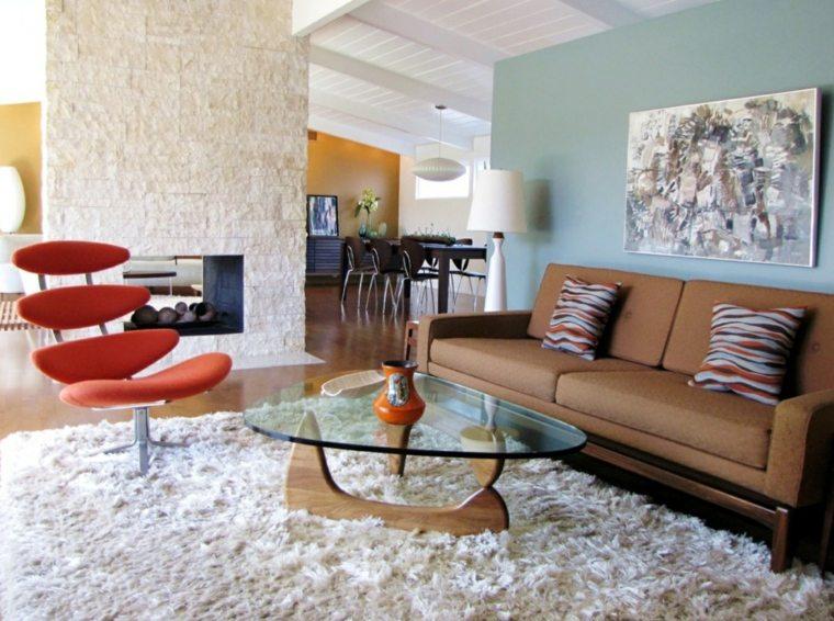 salones vintage mesa cristal sillon ideas