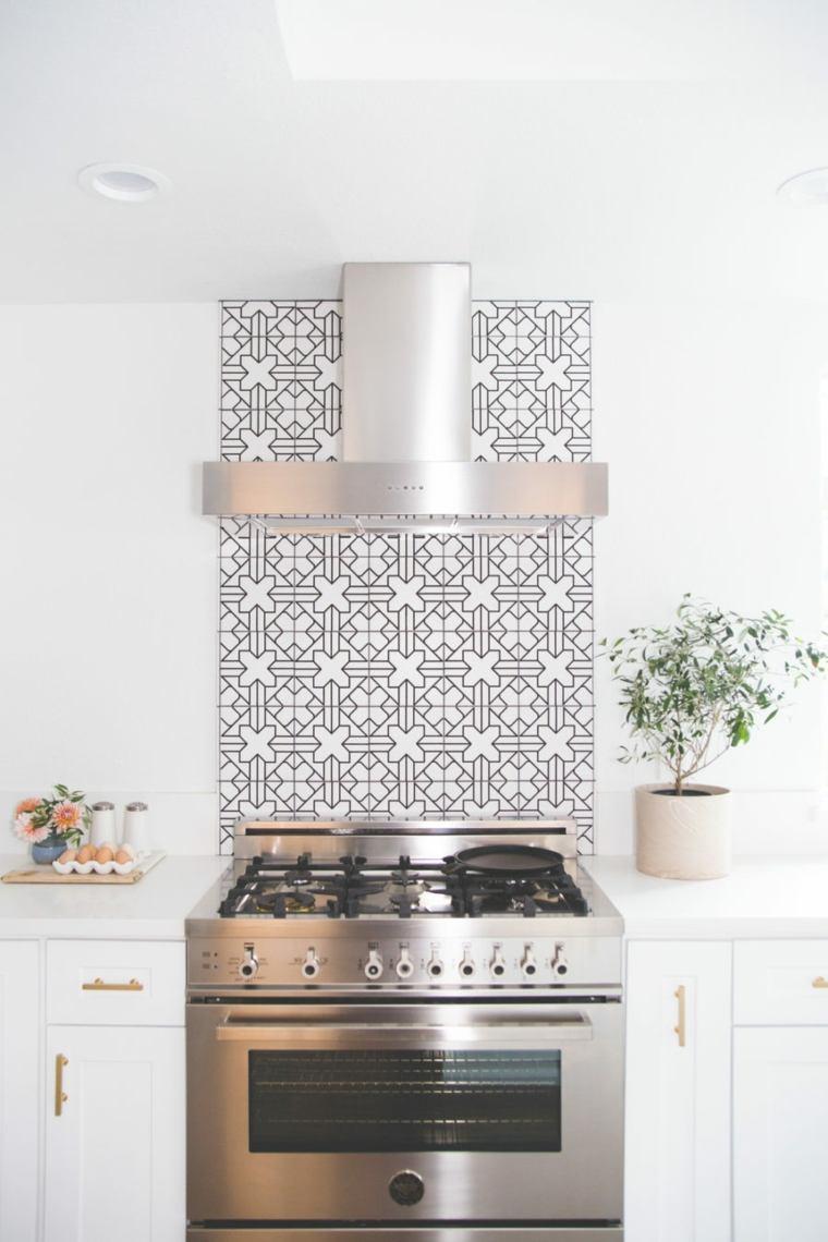 salpicadero cocina azulejos estilo nórdico
