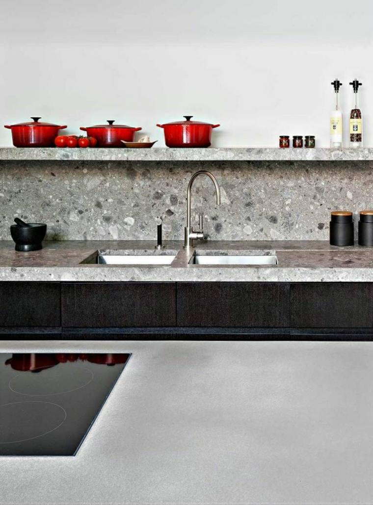 salpicadero cocina piedra cemento