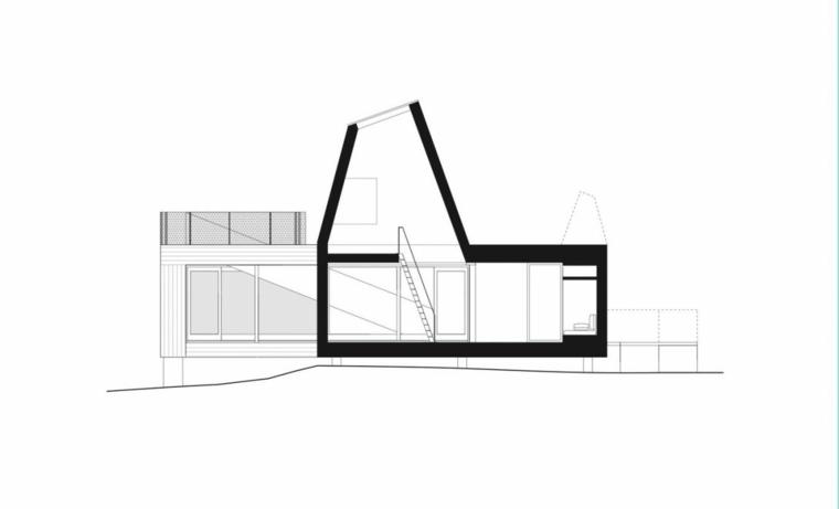 seccion plano casa diseño estilo ideas