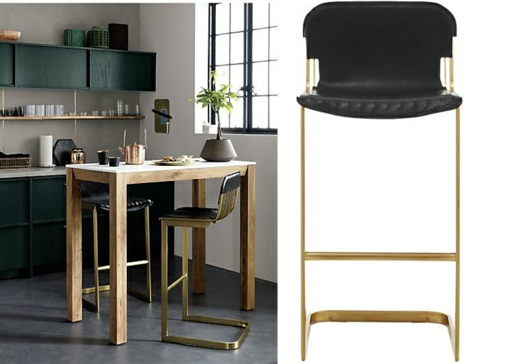 silla cocina respaldo tapizado piel