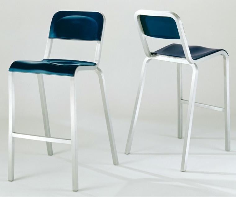 sillas cocina azules