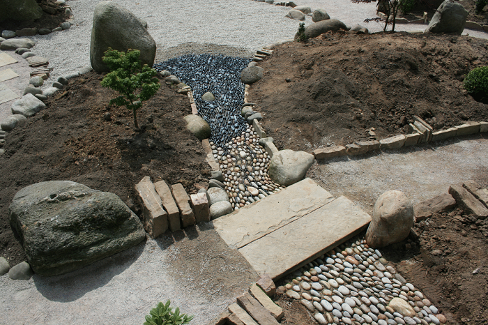 simulando rios jardines casas muebles