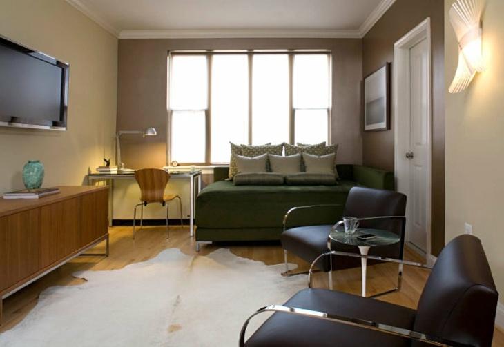 sofa cama pequeno apartamento contemporaneo