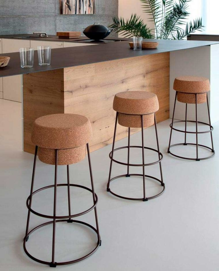 taburetes altos asientos de corcho