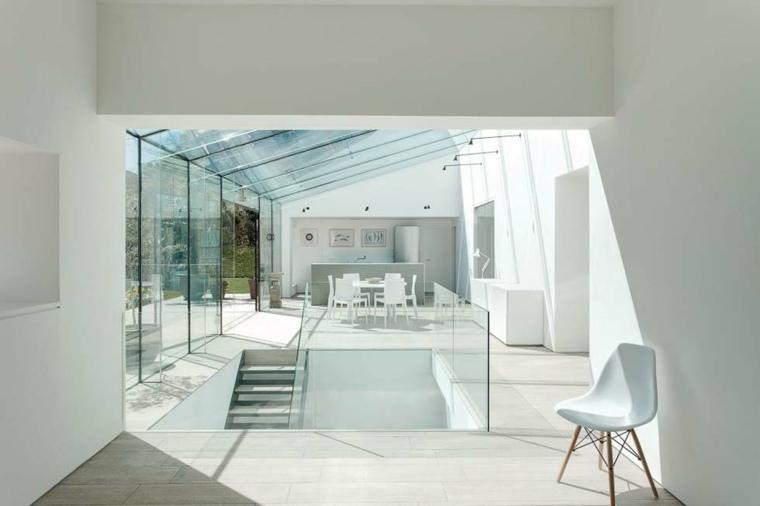 Casas de cristal para interiores luminosos - Tejados de cristal ...