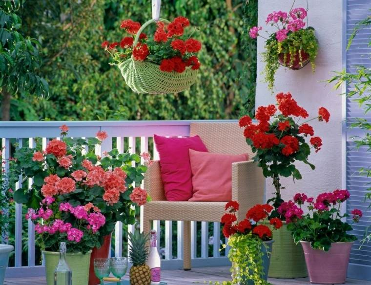 Terrazas decoradas con plantas ideas originales for Adornos con plantas en macetas