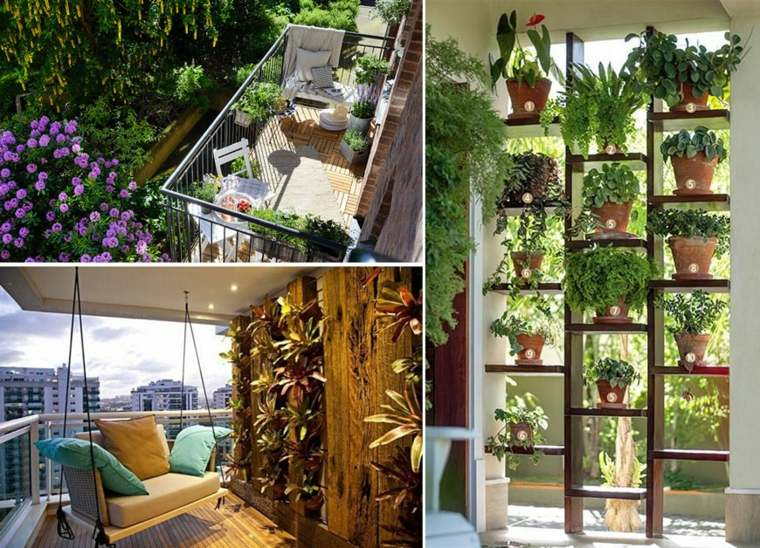 Terrazas decoradas con plantas ideas originales for Plantas modernas para jardin