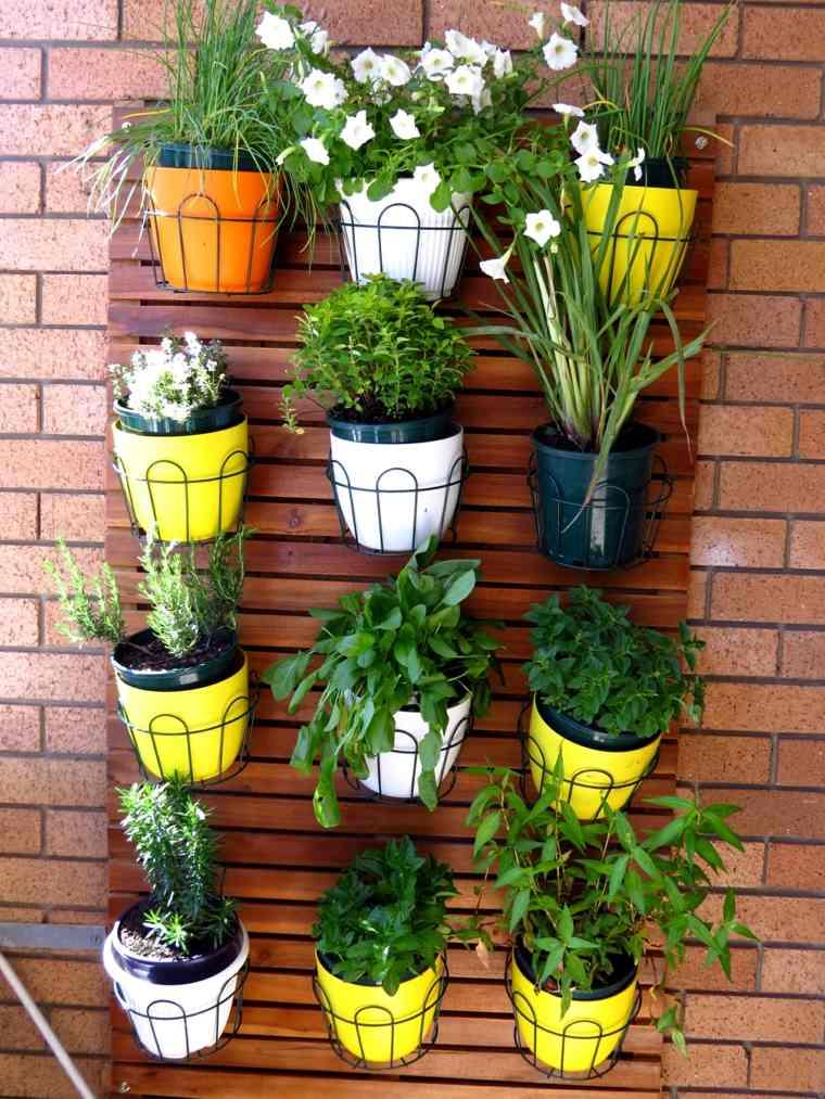 terrazas decoradas con plantas macetas