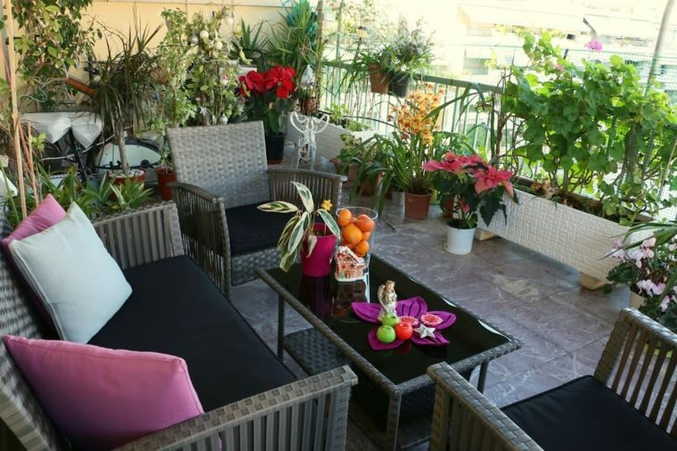 terrazas decoradas con plantas otoño