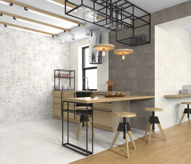 Textura madera para decorar la cocina - Taburetes diseno cocina ...