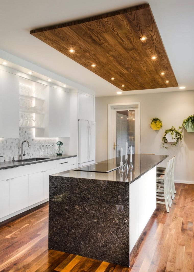 Textura madera para decorar la cocina for Techos para cocinas