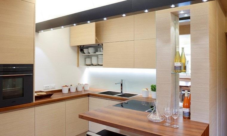 Textura madera para decorar la cocina - Cocina encimera madera ...