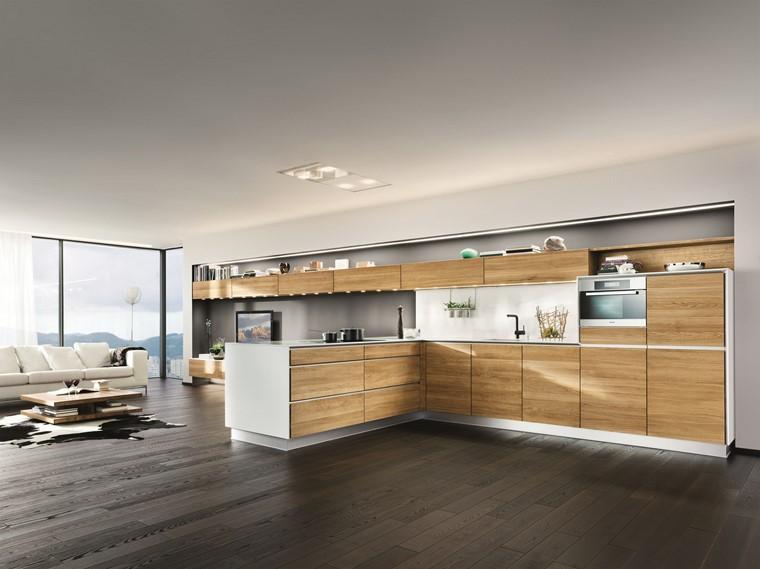 textura madera diseno cocina espacios amplios ideas