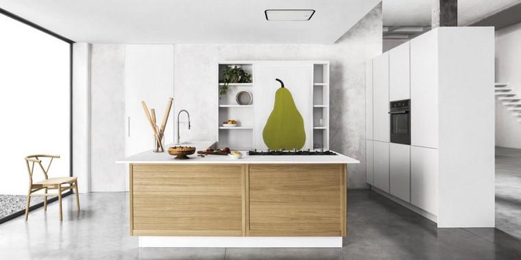 textura madera diseno cocina isla natural ideas