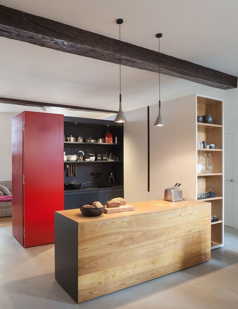 Textura madera para decorar la cocina for Diseno isla cocina