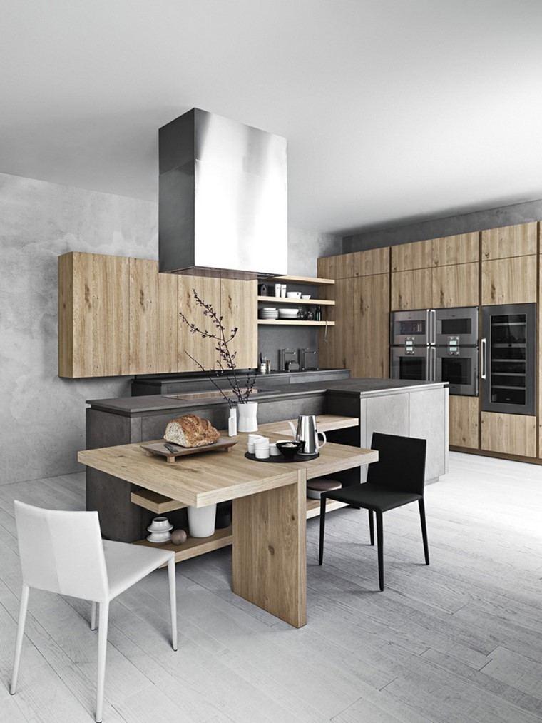 textura madera diseno cocina mesa muebles ideas
