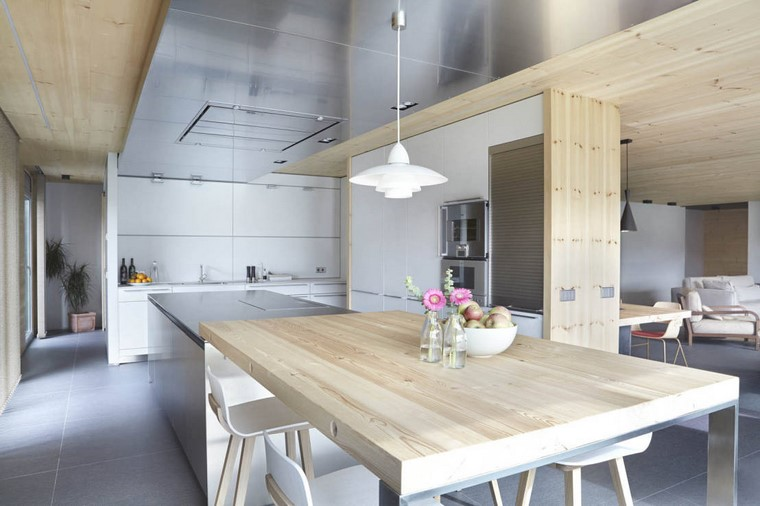textura madera diseno cocina mesa techo ideas