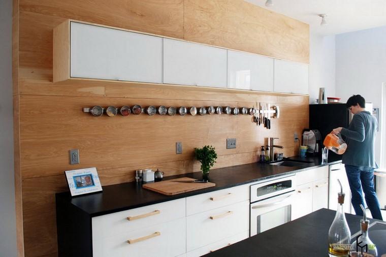 Textura madera para decorar la cocina - Panel pared cocina ...