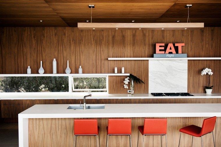 textura madera diseno cocina paredes estantes ideas
