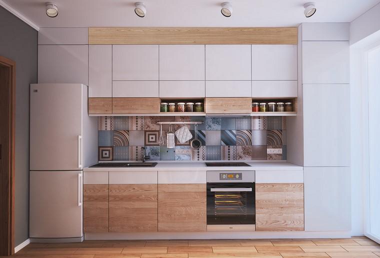 textura madera diseno cocina puertas blanco madera ideas