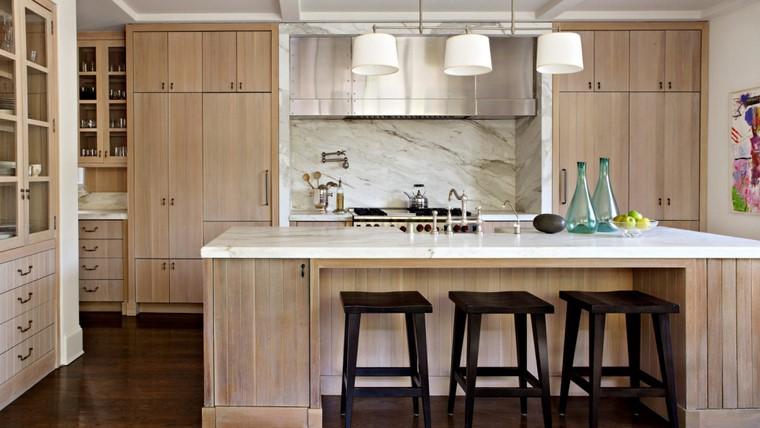 textura madera diseno cocina salpicadero marmol ideas