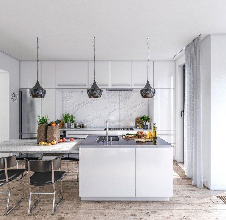 Textura madera para decorar la cocina - Suelo madera cocina ...