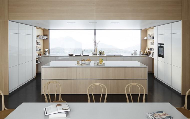 textura madera diseno cocina tablones muebles blancos ideas