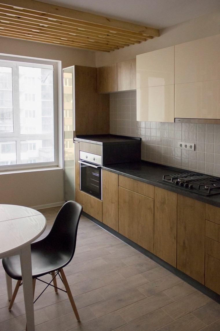 Textura madera para decorar la cocina for Diseno muebles cocina