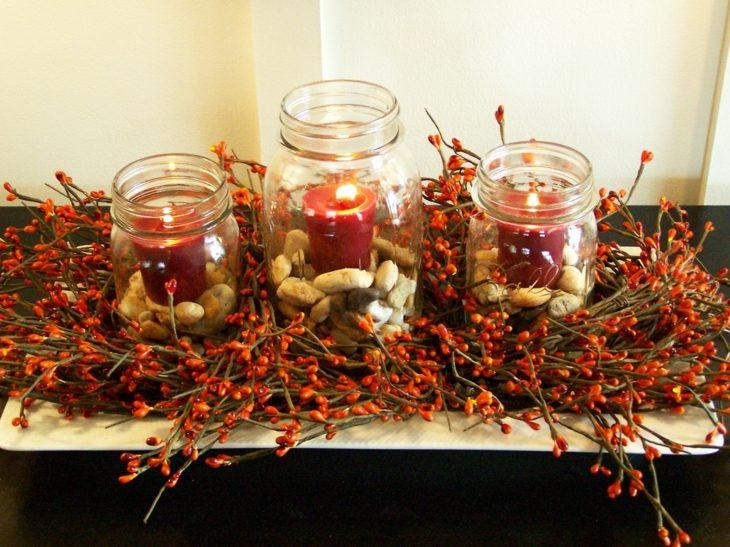 velas cxolores plantas ornamentales rojo