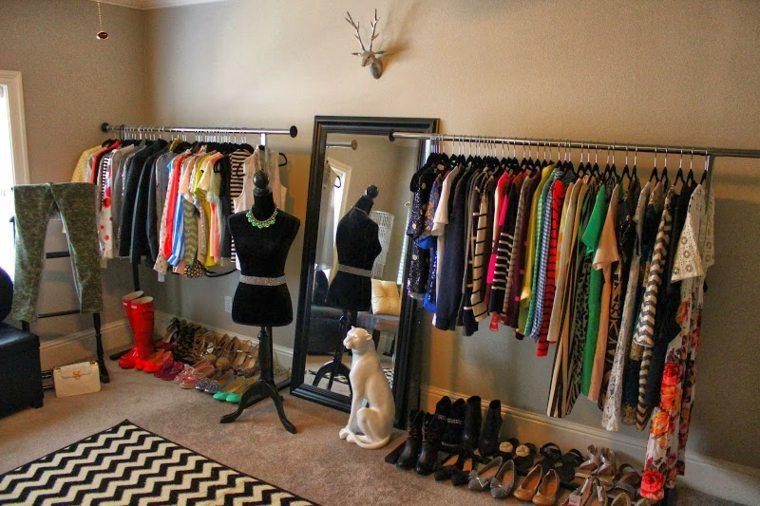 vestidor barras perchas ropa barato