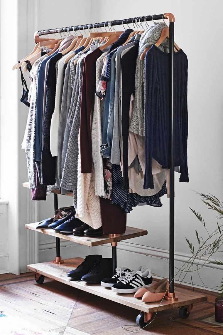 vestidor diseño sencillo barato perchas
