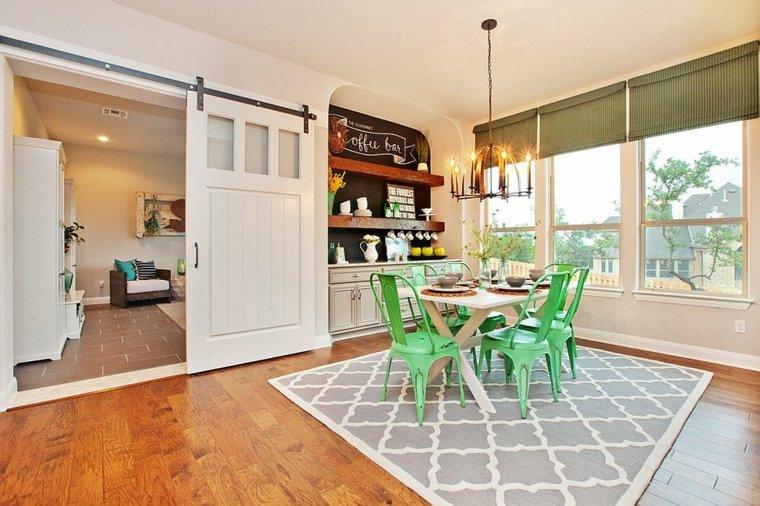vintage muebles verdes diseño salones