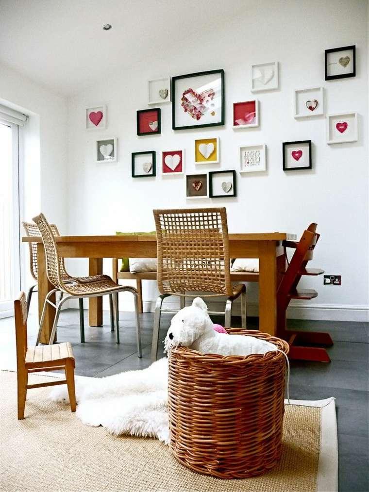 salón comedor deco paredes