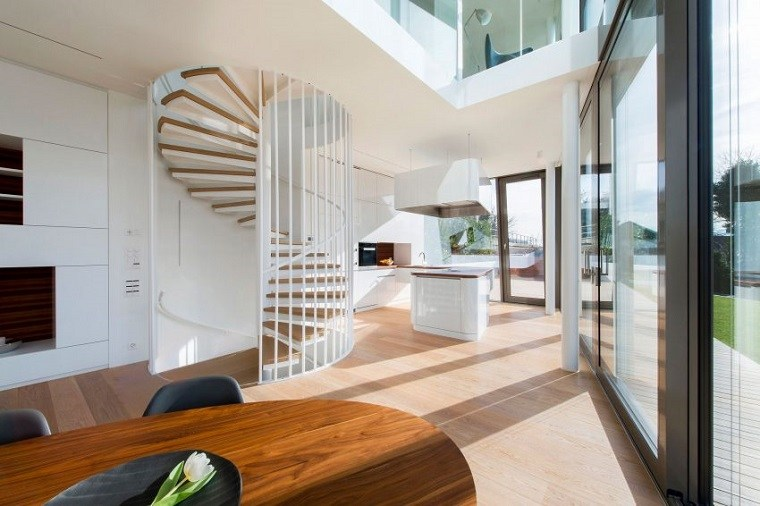 evolution design residencia moderna escaleras caracol ideas
